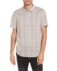 John Varvatos   Star Usa Slim Fit Animal Print Short Sleeve Sport Shirt   Lyst