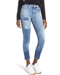 Calvin Klein - Ankle Skinny Jeans - Lyst