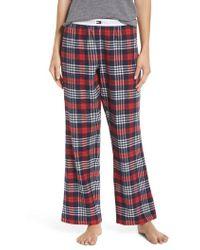 Tommy Hilfiger - Plaid Pajama Pants - Lyst