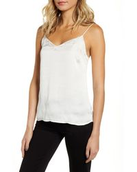PAIGE Cicely Embroidered Scallop Trim Camisole - White