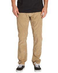 Billabong - Outsider Slim Straight Leg Corduroy Pants - Lyst