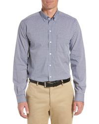 Cutter & Buck - Casey Classic Fit Check Sport Shirt - Lyst
