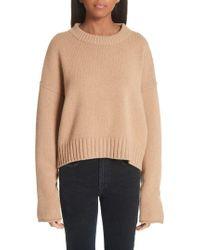 Proenza Schouler - Button Cuff Wool & Cashmere Blend Sweater - Lyst