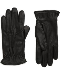 UGG UGG Three-point Leather Tech Gloves - Black