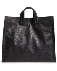 Clare V. - Simple Flower Embossed Leather Tote - Lyst