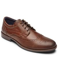 Rockport Dustyn Waterproof Wingtip - Brown