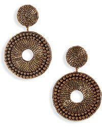 Panacea - Beaded Circle Earrings - Lyst