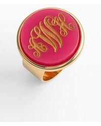 Moon & Lola   'vineyard' Personalized Monogram Ring   Lyst