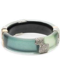 Alexis Bittar - Crystal Encrusted Colorblocked Bracelet - Lyst
