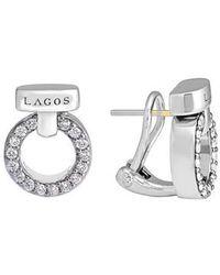 Lagos - 'enso - Circle Game' Diamond Stud Earrings - Lyst