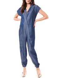 Loyal Hana Celia Maternity/nursing Jumpsuit - Blue