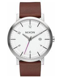 Nixon | 'rollo' Leather Strap Watch | Lyst