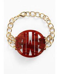 Moon & Lola - 'annabel' Large Personalized Monogram Bracelet - Lyst