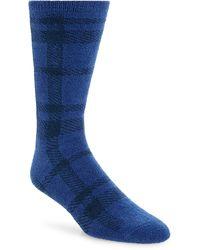 Nordstrom Nordstrom Mens Shop Plaid Butter Socks - Blue