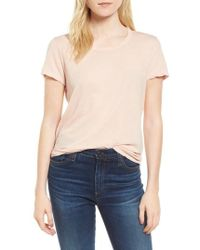 James Perse | Crepe Jersey Tee | Lyst