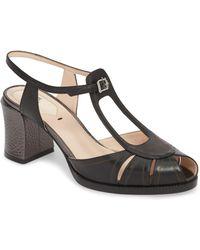 Fendi - Chameleon Block Heel Sandal - Lyst