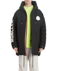 7ca3a8d56 Moncler Arcy Hooded Puffer Jacket in Black for Men - Lyst