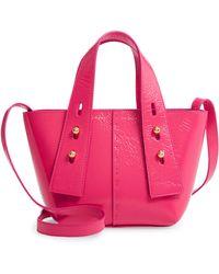 FRAME Mini Les Second Leather Crossbody Bag - Pink