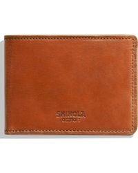 Shinola Harness Slim 2.0 Bifold Leather Wallet - Brown