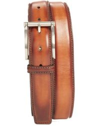 Magnanni - Carbon Leather Belt - Lyst