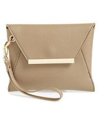BP. - Faux Leather Envelope Clutch - - Lyst