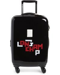 Longchamp Cuir Lgp 18-inch Rolling Spinner Carry-on - Black