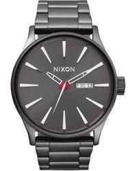 Nixon Sentry Bracelet Watch - Metallic