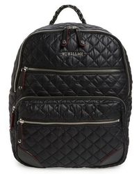 MZ Wallace | Crosby Quilted Oxford Nylon Backpack | Lyst