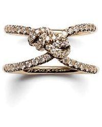 Nora Kogan - Diamond Yuki Shibari Knot Ring - Lyst