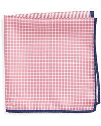 Nordstrom Panel Silk Pocket Square - Pink
