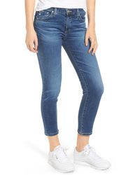 AG Jeans The Prima Straight Leg Crop Jeans - Blue