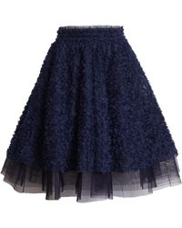 Halogen Halogen X Atlantic-pacific Floret Full Skirt - Blue