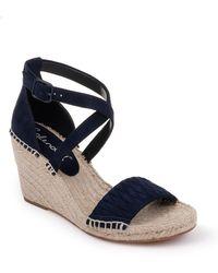 Splendid Sheri Wedge Espadrille Sandal - Blue