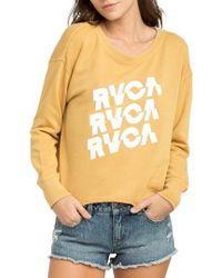 RVCA - Slice Sweatshirt - Lyst