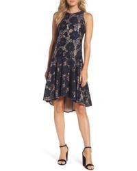 Eliza J - Sleeveless Lace Drop Waist Dress - Lyst