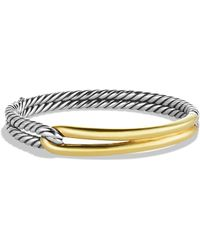 David Yurman Labyrinth Single - Loop Bracelet With Gold - Metallic