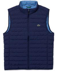 Lacoste Men's Quilted Vest - Blue
