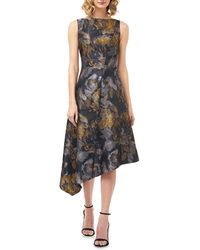 Kay Unger Carmella Dijon Asymmetrical Cocktail Dress - Multicolor