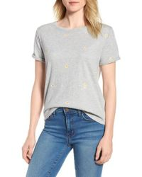 Lucky Brand - Lucky Embroidered Daisies Tee - Lyst