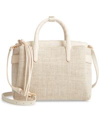 Nancy Gonzalez - Medium Cristie Linen & Genuine Crocodile Tote - - Lyst