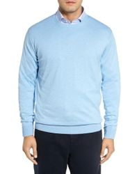 Peter Millar | Crown Soft Cotton & Silk Sweater | Lyst