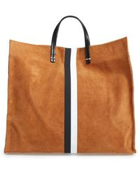 Clare V. - Simple Stripe Suede Tote - Lyst