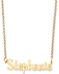Argento Vivo - Personalized Script Name Necklace - Lyst