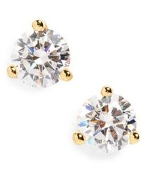 Nordstrom - Round 0.50ct Cubic Zirconia Earrings - Lyst