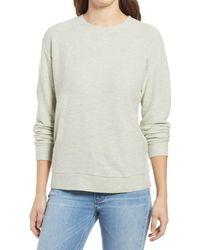 Lou & Grey Otis Cotton Blend Sweatshirt - Gray