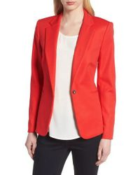 Vince Camuto | Lace-up Back Double Weave Blazer | Lyst