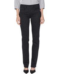 NYDJ Marilyn Leopard Print Straight Leg Jeans - Blue