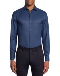 W.r.k. - Trim Fit Stretch Check Performance Dress Shirt - Lyst