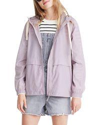 Madewell Raincheck Packable Rain Coat, Purple