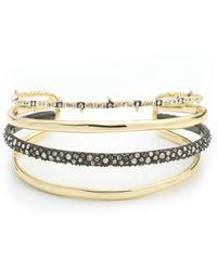 Alexis Bittar Crystal Encrusted Orbiting Cuff Bracelet - Metallic
